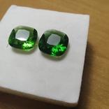 Камені із старовинних прикрас 2 шт. (зелені), фото №6
