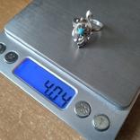 Перстень срібний 925 СССР з бірюзою 4г (р.18 - 18,5), фото №8