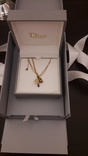 Оригинальная золотая подвеска Dior c бриллиантом и аметистом., фото №4