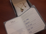 Оригинальная золотая подвеска Dior c бриллиантом и аметистом., фото №5