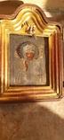 Икона в киоте св. Николай серебро позолота, фото №8