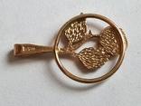 Советский кулон. Золото 583 проба. Роза., фото №5