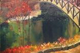 Горбатый мост и Усечённая колонна, холст, масло, 70х95 см. Алек Гросс., фото №5