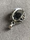 Массивный серебряный кулон с цитрином и раухтопазом (серебро 925 пр, вес 26 гр), фото №5