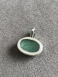 Серебряный кулон с изумрудом(серебро 925 пр, вес 11,5 гр), фото №6