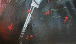 Ворон. Холст, масло. 70х50 см. Алек Гросс. Копия., фото №3