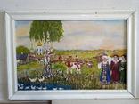 """Жанровая картина маслом""""Домой"""", 57*40см,стиль соцреализм, фото №2"""