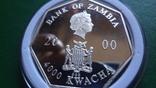 4000 квача 2000 Замбия Календарь серебро 999, фото №7
