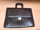 Коричневый кожаный портфель времён СССР., фото №2