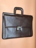 Коричневый кожаный портфель времён СССР., фото №3