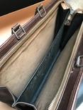 Коричневый кожаный портфель времён СССР., фото №5