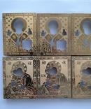Оклады для икон латунные 10 шт, фото №5