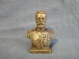 Император Николай Бюст Бронза, фото №3