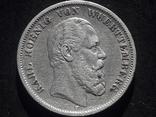 5 марок 1876 года Вюртемберг. Лот 1, фото №2