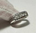 Золотое кольцо 14к 585 с бриллиантами, фото №2