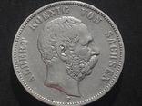 5 марок 1876 года АЛЬБЕРТ, фото №2