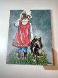 Девочка с собакой. Копия., фото №3