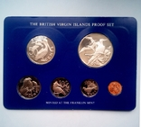 Британские Виргинские острова годовой набор 1975 г. - ПРУФ, фото №3