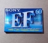 Аудиокассета SONY EF-60 новая, фото №2