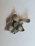 Советский подвес - цветок. Серебро 925 проба. СССР., фото №3