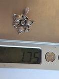 Советский подвес - цветок. Серебро 925 проба. СССР., фото №8