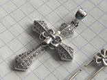 Винтаж крестик и булавка, фото №3