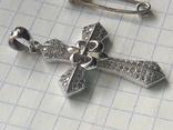Винтаж крестик и булавка, фото №5