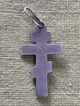 Крестик серебряный, фото №3