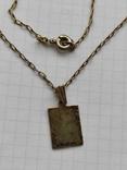 Кулон на цепочке серебро в позолоте 875 (звезда), фото №2