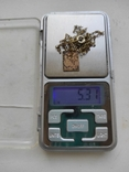 Кулон на цепочке серебро в позолоте 875 (звезда), фото №6