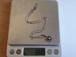 Кулон + цепочка 40 см. Серебро 925 проба., фото №7