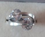 Серебряный набор серёжки, кольцо, кулон 925 проба, фото №3