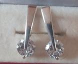Серебряный набор серёжки, кольцо, кулон 925 проба, фото №4