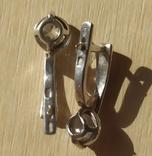Серебряный набор серёжки, кольцо, кулон 925 проба, фото №7