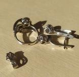 Серебряный набор серёжки, кольцо, кулон 925 проба, фото №8