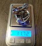 Серебряный набор серёжки, кольцо, кулон 925 проба, фото №9