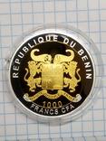 Бенін, 1000 франків КФА, 2015, серія Класика золотих монет світу - крюгеранд., фото №3