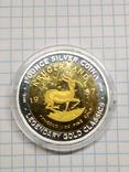 Бенін, 1000 франків КФА, 2015, серія Класика золотих монет світу - крюгеранд., фото №4