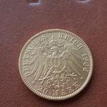Золото 20 марок 1906 Пруссия Германия, фото №6