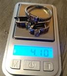 Серебряный гарнитур кольцо и серёжки 925 проба, фото №7