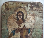 Икона, архангел Михаил, масло, фанера, старая., фото №3
