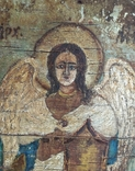 Икона, архангел Михаил, масло, фанера, старая., фото №4