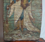 Икона, архангел Михаил, масло, фанера, старая., фото №5