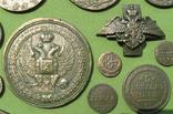 Медные монеты Российской империи в зелёной патине. Копии, в раме без стекла, 31х21 см, фото №9
