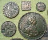 Медные монеты и настольные медали Копии, со стеклом, 37х27см., фото №5