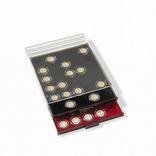 Бокс для монет диаметр ячейки 45 мм для монет НБУ серебро 10 грн, черный Leuchtturm 359443