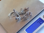 Советский набор кольцо + серьги. Серебро 875 проба. 20 размер., фото №10