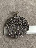 Массивный серебряный кулон с аметистом (серебро 925 пр, вес 39 гр), фото №4