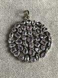 Массивный серебряный кулон с аметистом (серебро 925 пр, вес 39 гр), фото №7