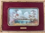 Картина миниатюра живопись ( Италия ) разм 28*23, фото №3